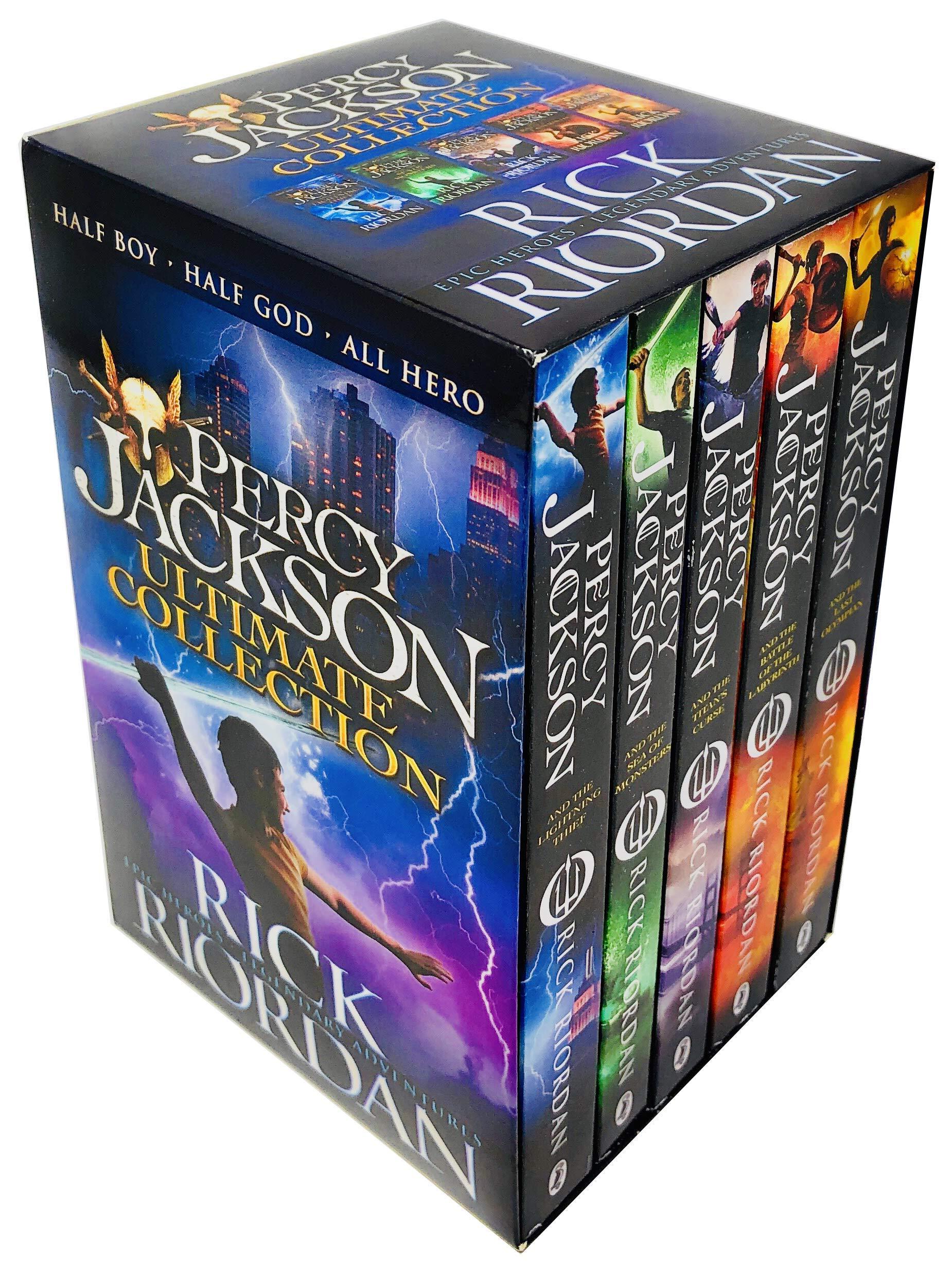 Percy Jackson Pack, 5 books, RRP 34.95 Paperback Jan 01, 2014 Rick Riordan: Amazon.es: Rick Riordan: Libros