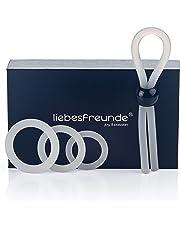Deluxe Cockring Set für Männer - Silikon Penisring Hodenring Eichelring & Penisschlaufe - Sexspielzeug zur Potenzsteigerung
