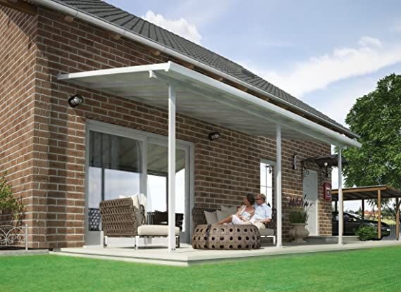 Chalet-Jardin Terraza de Aluminio Techo Aurora Blanco 5 x 3 m, 3x5 ...