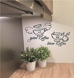 Wandtattoo Guter Kaffee böser Kaffee ca. 60cm x 40cm Küche Büro in ...