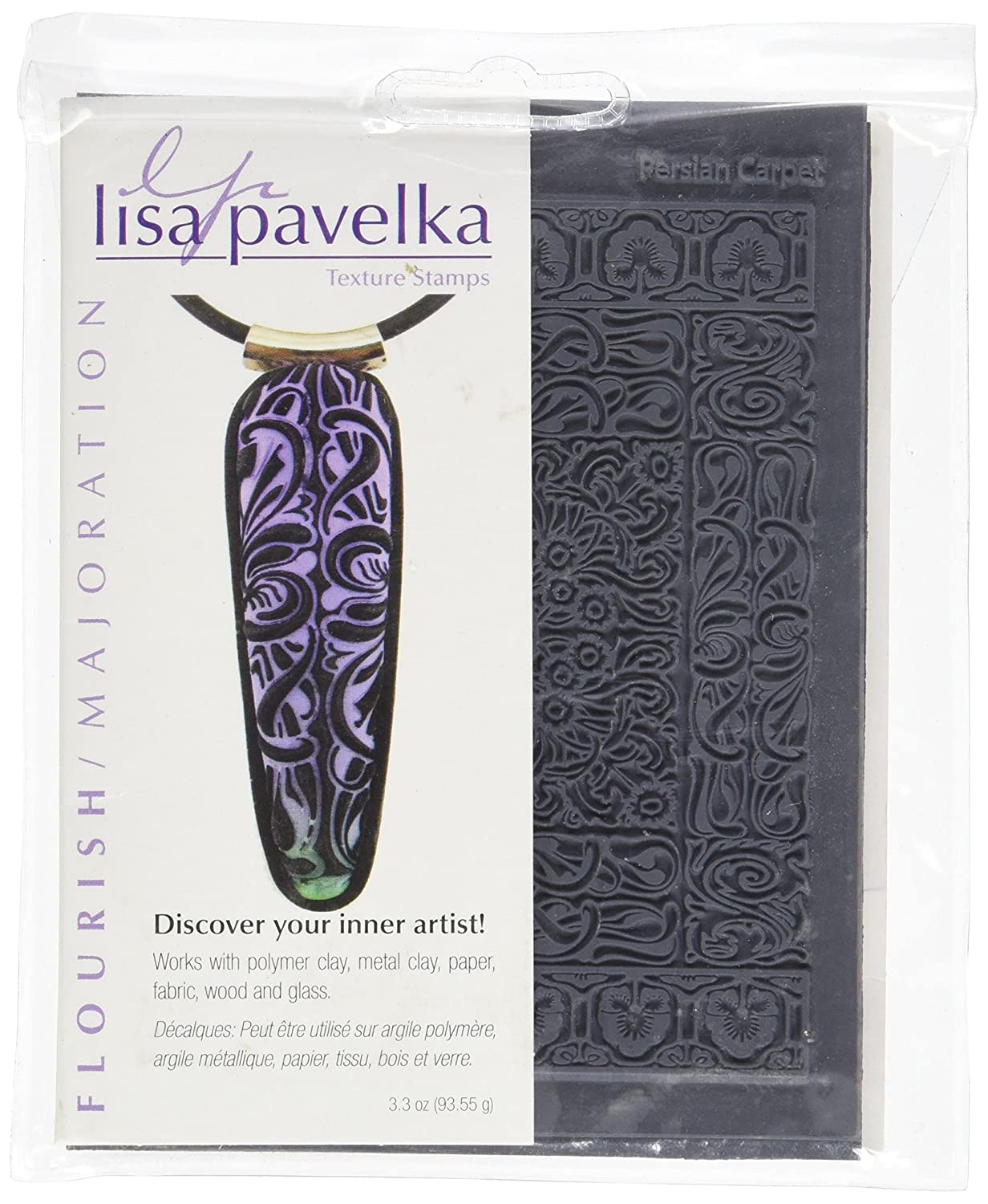 JHB Lisa Pavelka 327090 Texture Stamp Kit Flourish JHB International