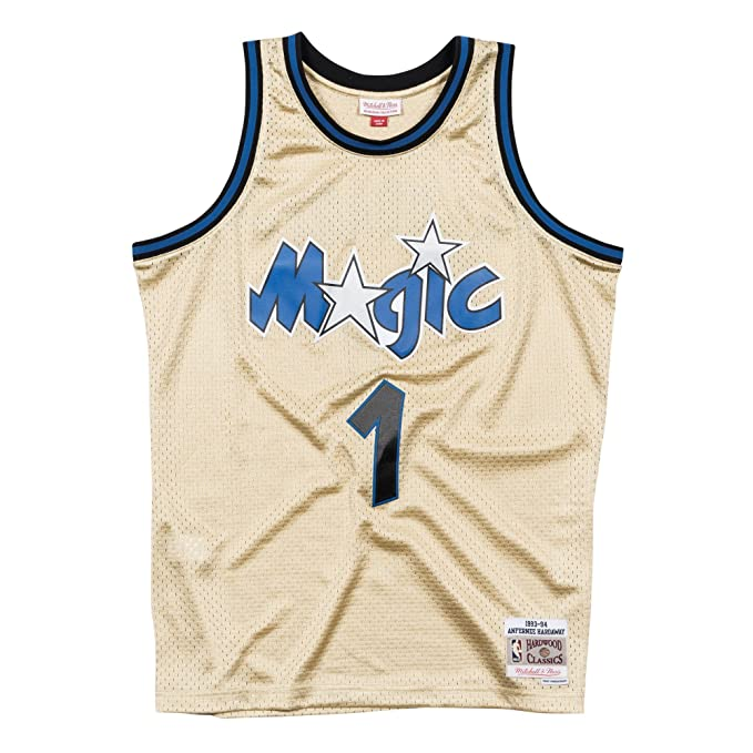 Mitchell & Ness NBA Orlando Magic Penny Hardaway 1993-94 Swingman Jersey Gold Medium: Amazon.es: Ropa y accesorios