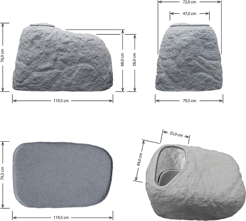 Braun GmbH Sandfilteranlage Abdeckung FLORANTIA CoverCave in klinker rot Sandfilter Abdeckung f/ür Poolfilter aus hochwertigem und witterungsbest/ändigem PE mit naturgetreuer Steinoptik