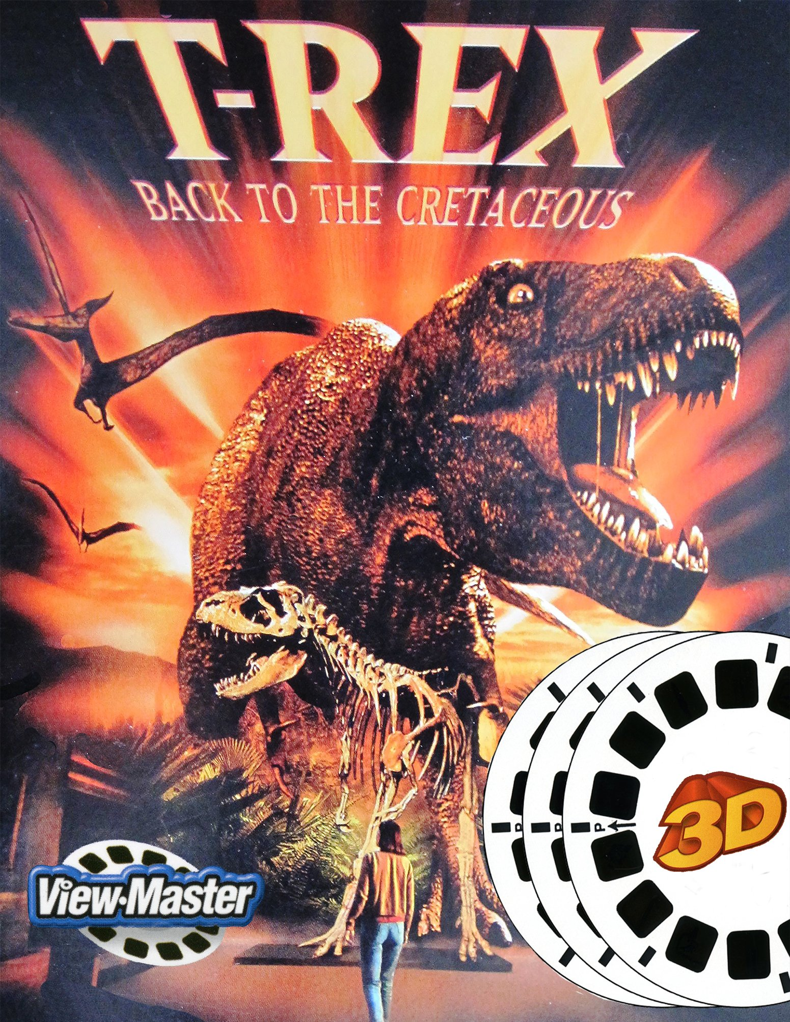 T-REX Back to the Cretaceous - Classic 3D View-Master 3 Reel Set by View Master