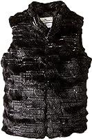 Widgeon Girls' Sequin Sparkle Faux Fur Vest