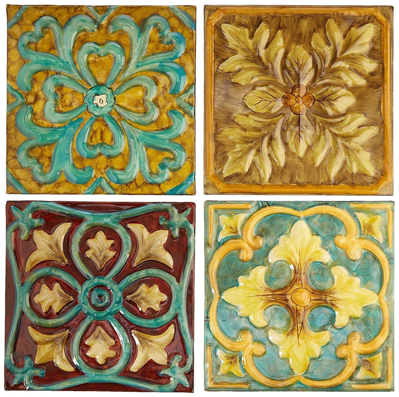 Amazon.com: Imax 12764-4 Casa Medallion Tiles, Set of 4: Home & Kitchen