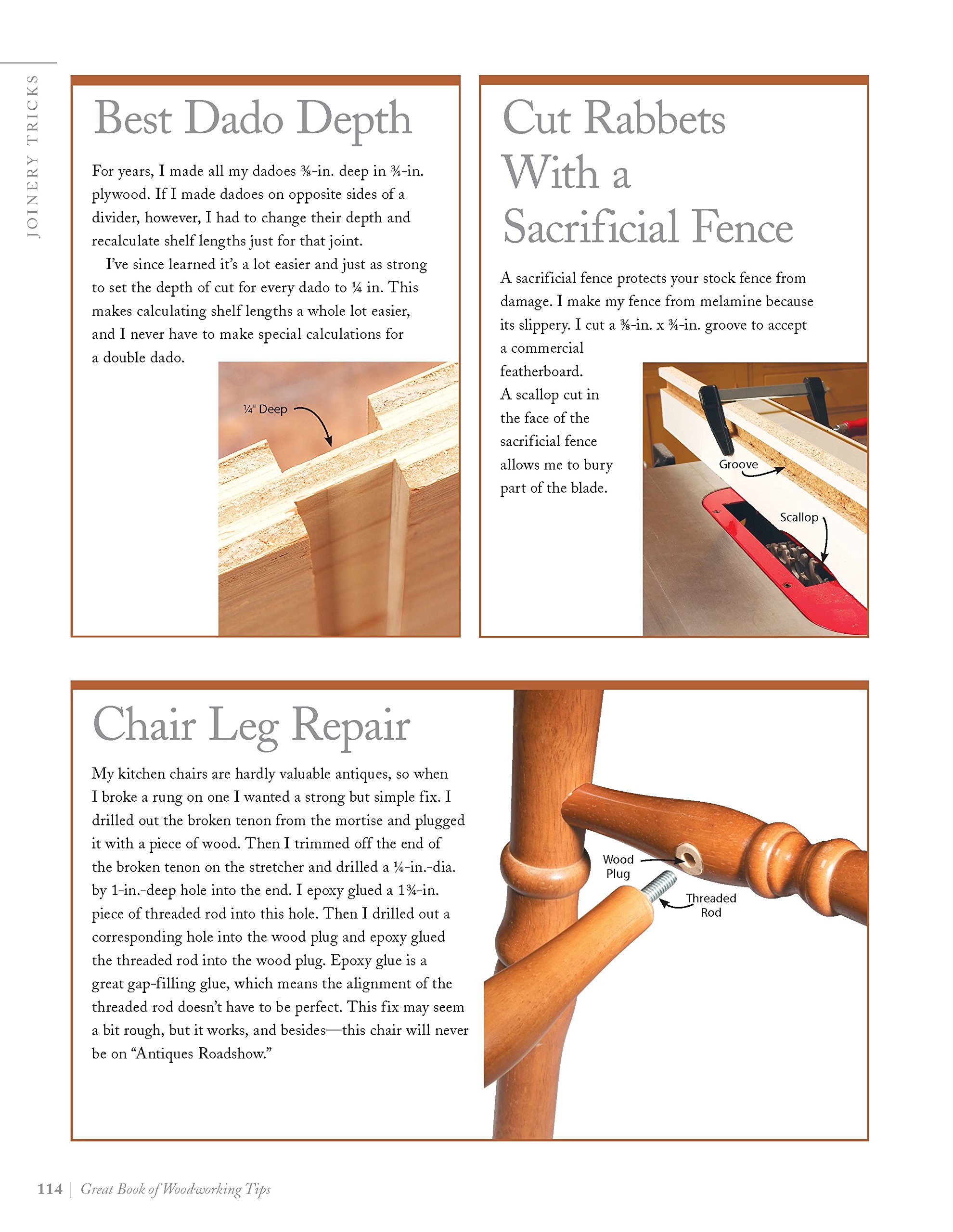 Great book of woodworking tips over 650 ingenious workshop tips great book of woodworking tips over 650 ingenious workshop tips techniques and secrets from the experts at american woodworker fox chapel publishing fandeluxe Image collections