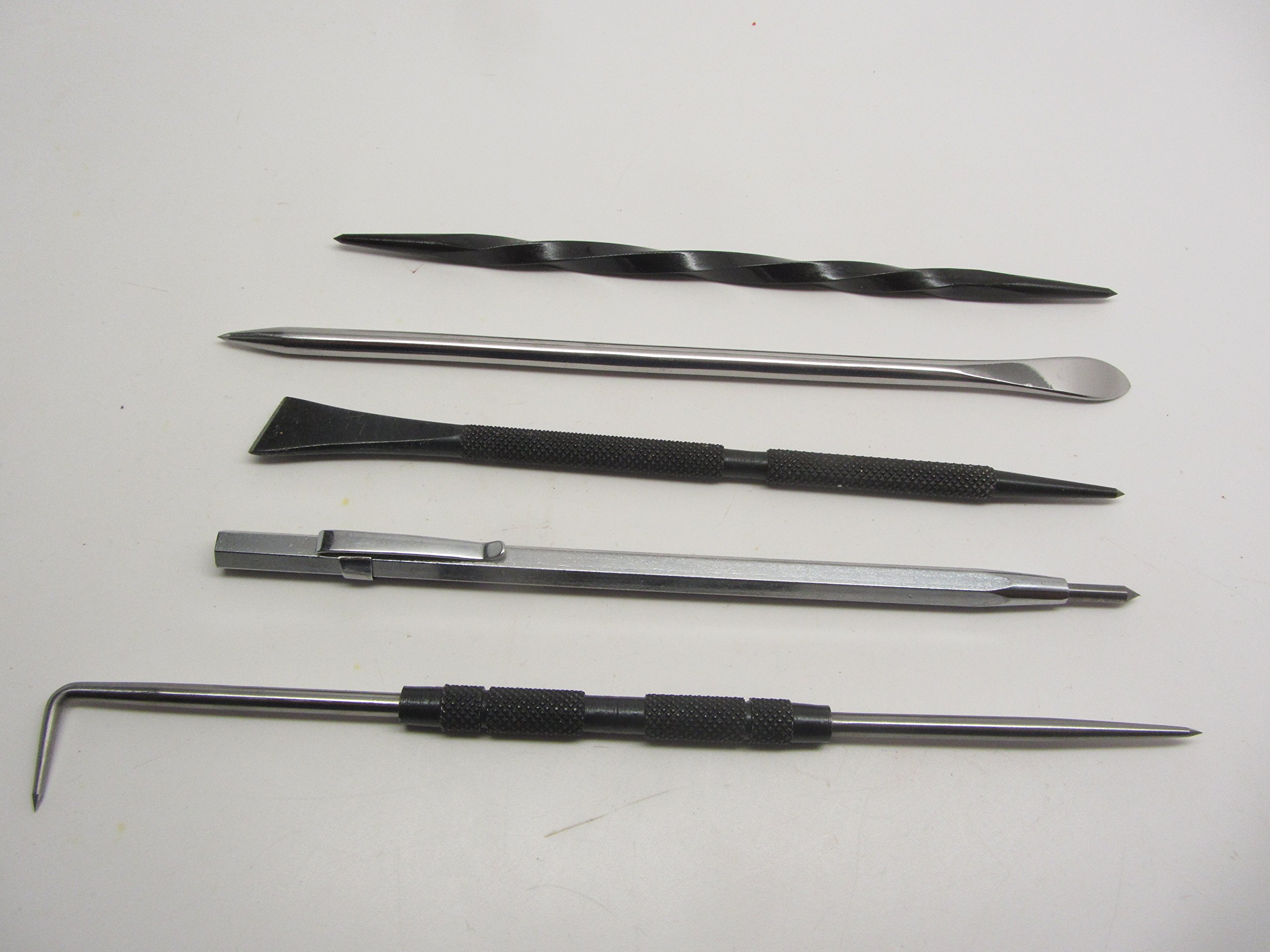 Grobet Mascot Intaglio Etching Scriber Scarper Burnisher Knife Kit by UJ Ramelson Co
