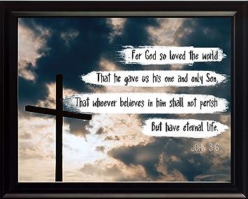 Amazoncom Bible Verse For God So Loved The World John 316