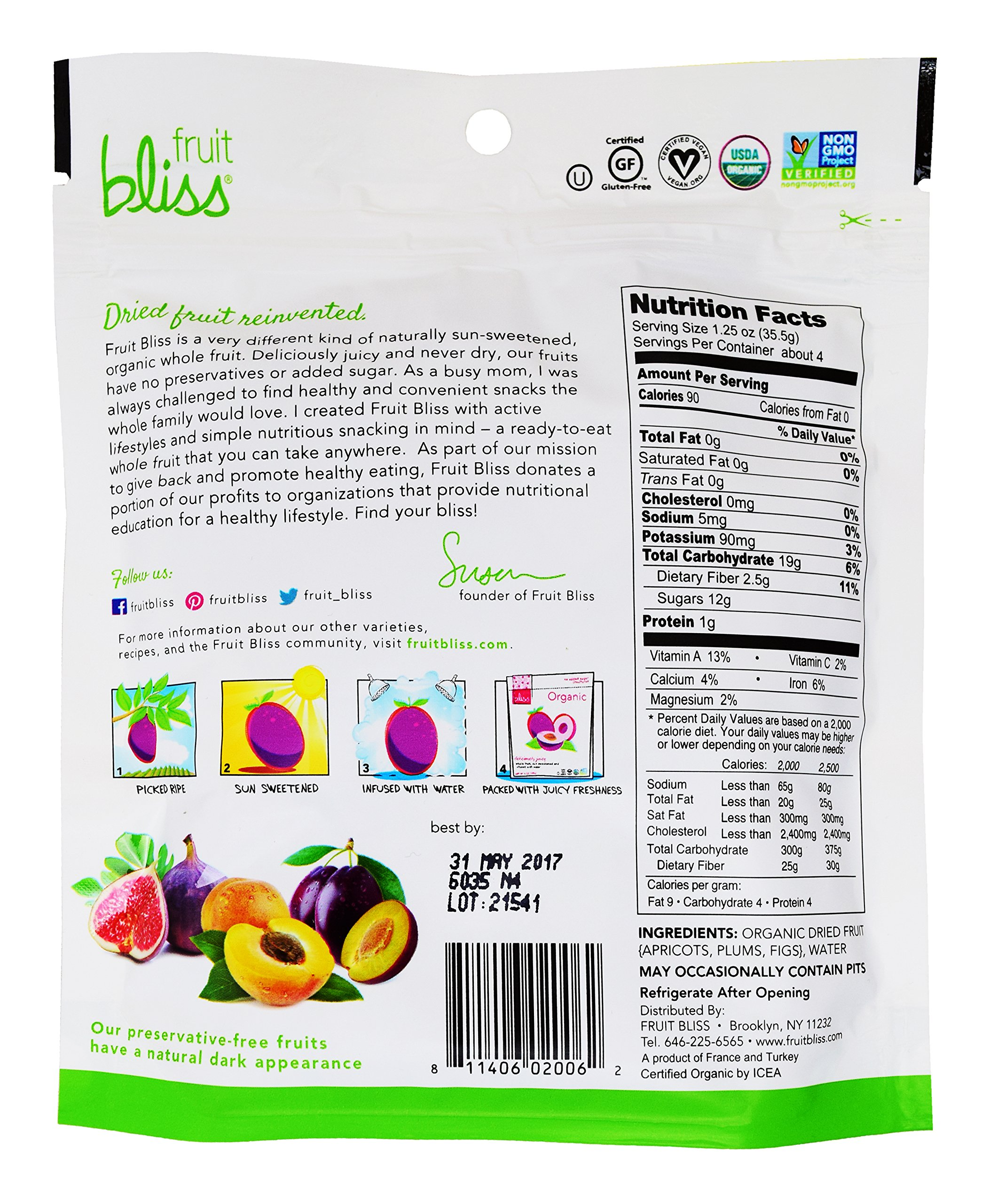 Fruit Bliss Organic Dried Fruit Medley, 5 oz, Pack of 6 by FRUIT BLISS (Image #2)