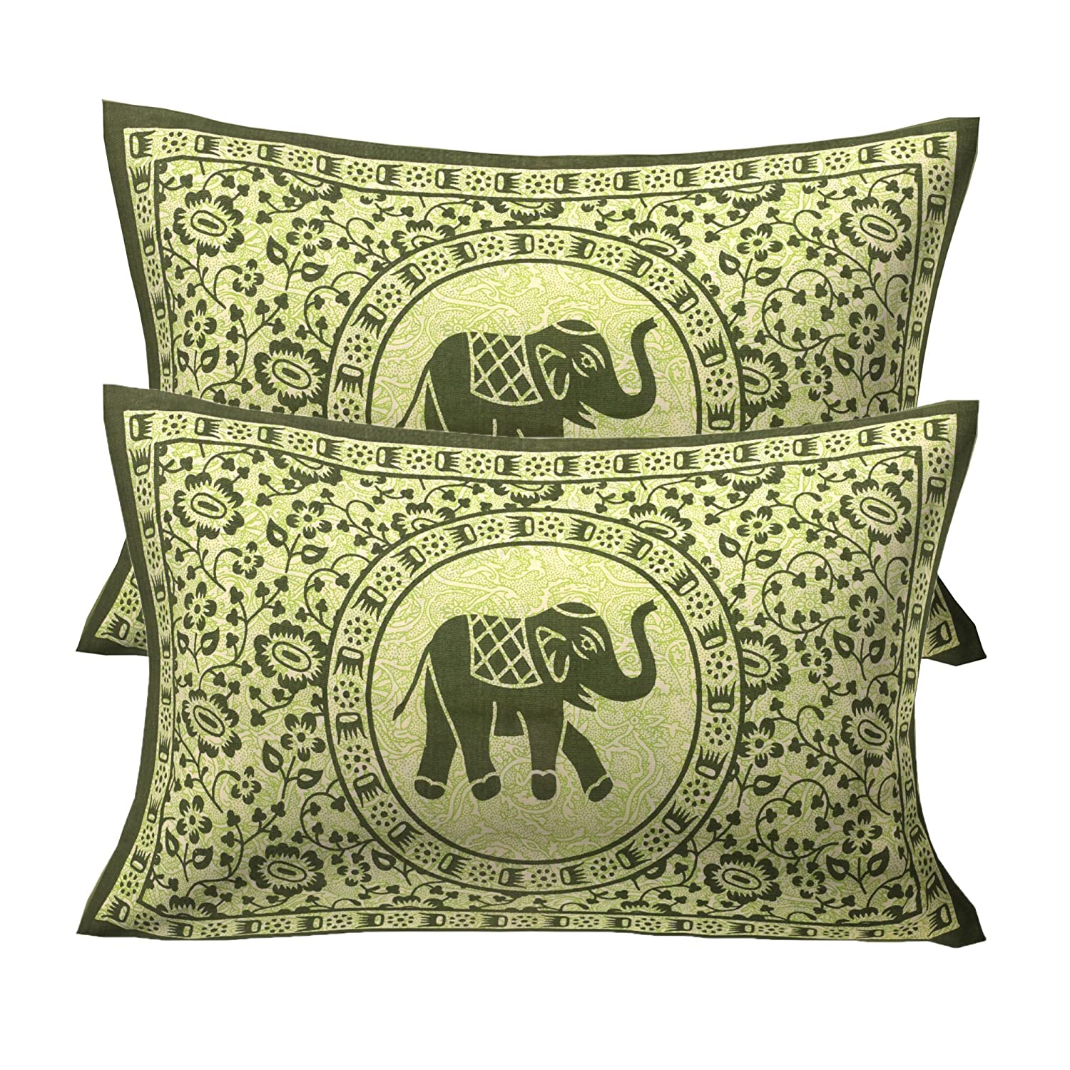 Unique Pillowcase Standard Size ELEPHANTS Handmade with Out of Print Fabric