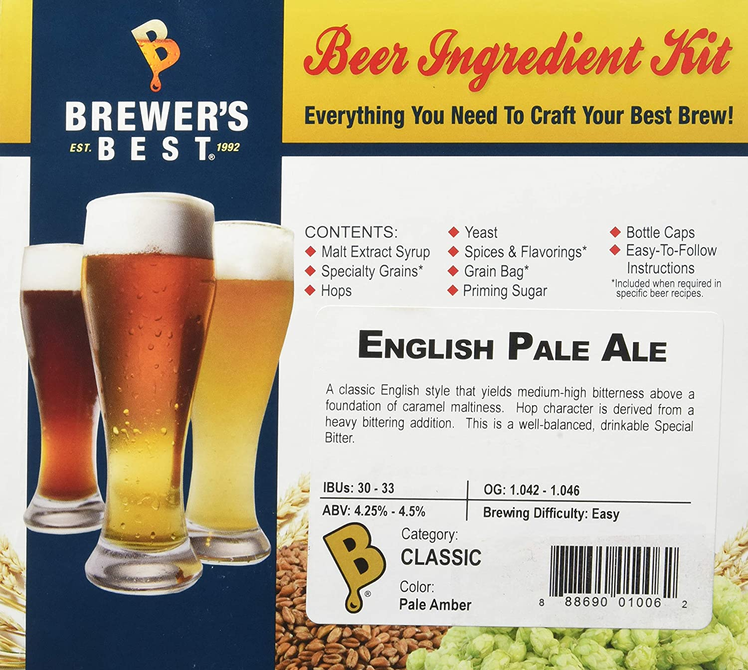 Amazon com: Brewer's Best English Pale Ale Homebrew Beer