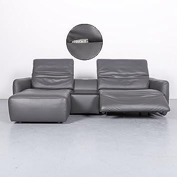 Amazon De Koinor Alexa Leder Sofa Anthrazit Grau Zweisitzer Sofa