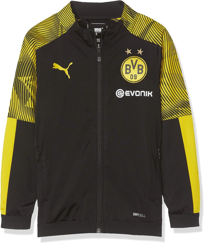 Amazon Com Puma 2019 2020 Borussia Dortmund Poly Jacket Black Kids Clothing