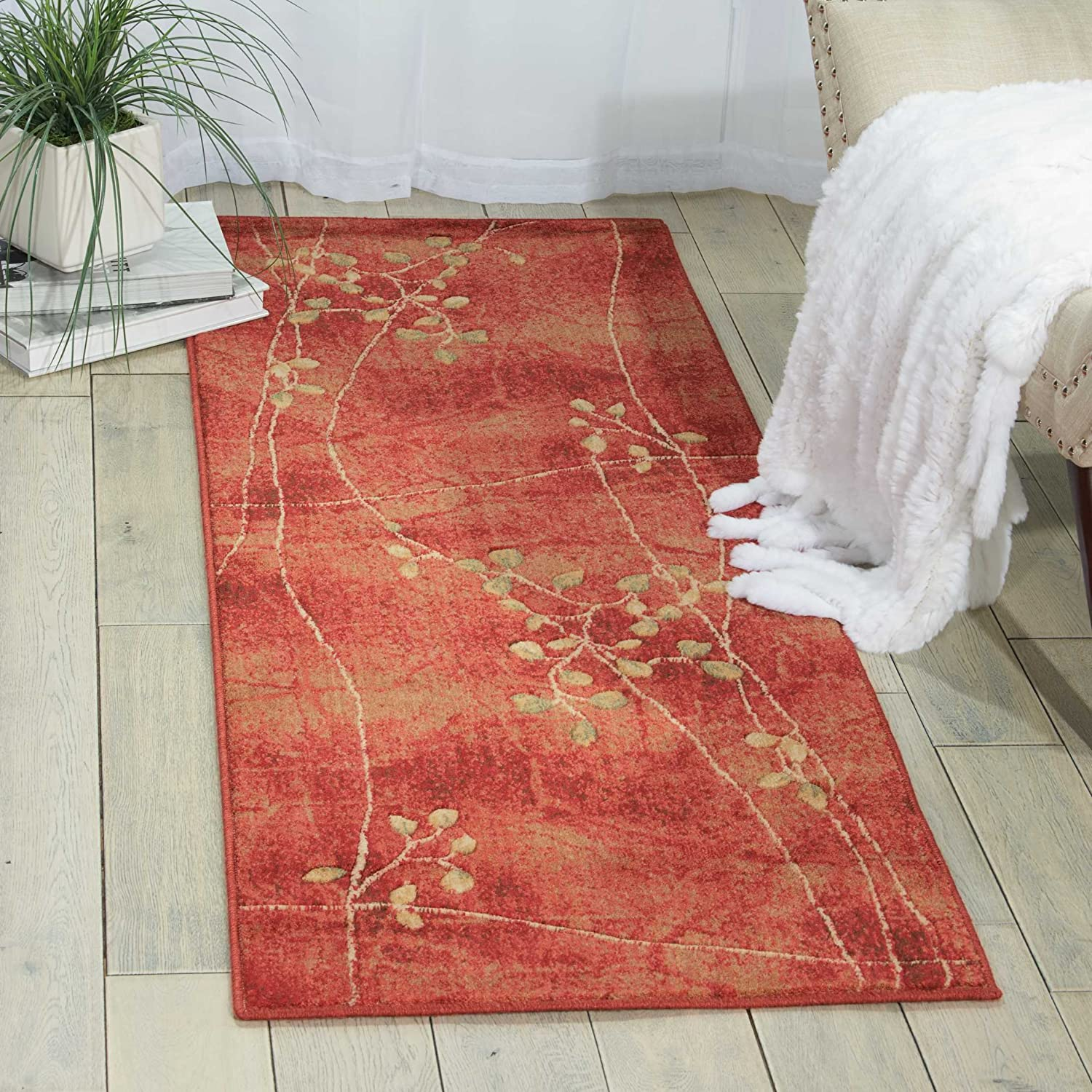 Flame 2' x 5'9  Nourison Somerset Multicolor Runner Area Rug, 2-Feet 3-Inches by 8-Feet  (2'3  x 8')