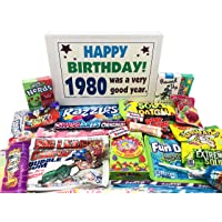 Woodstock Candy 1980 40th Birthday Ideas - Retro Decade 80s Candy Gag Gift Basket Box Assortment From Childhood - Milestone Birthday Gifts for Man or Woman Turning Forty Years Old Jr.