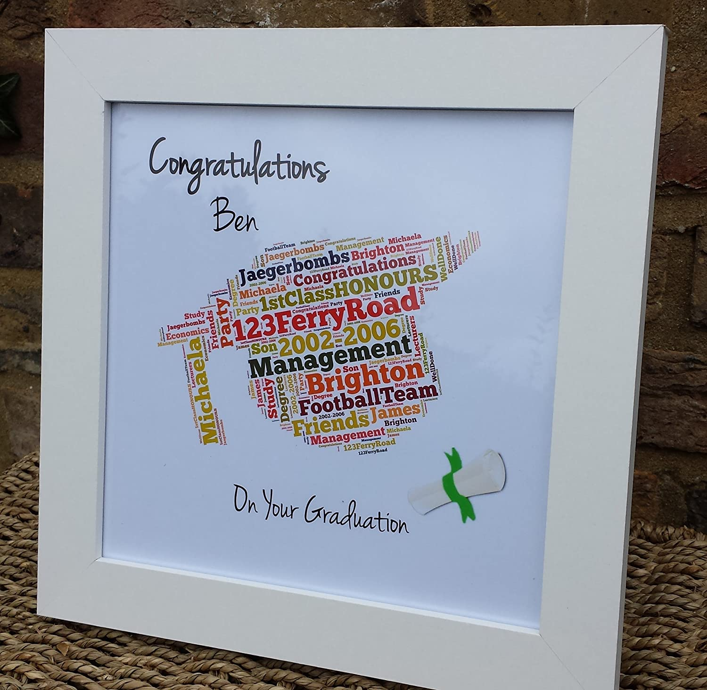 Personalised Frame Print Graduation Framed Memory Keepsake Christmas Gift