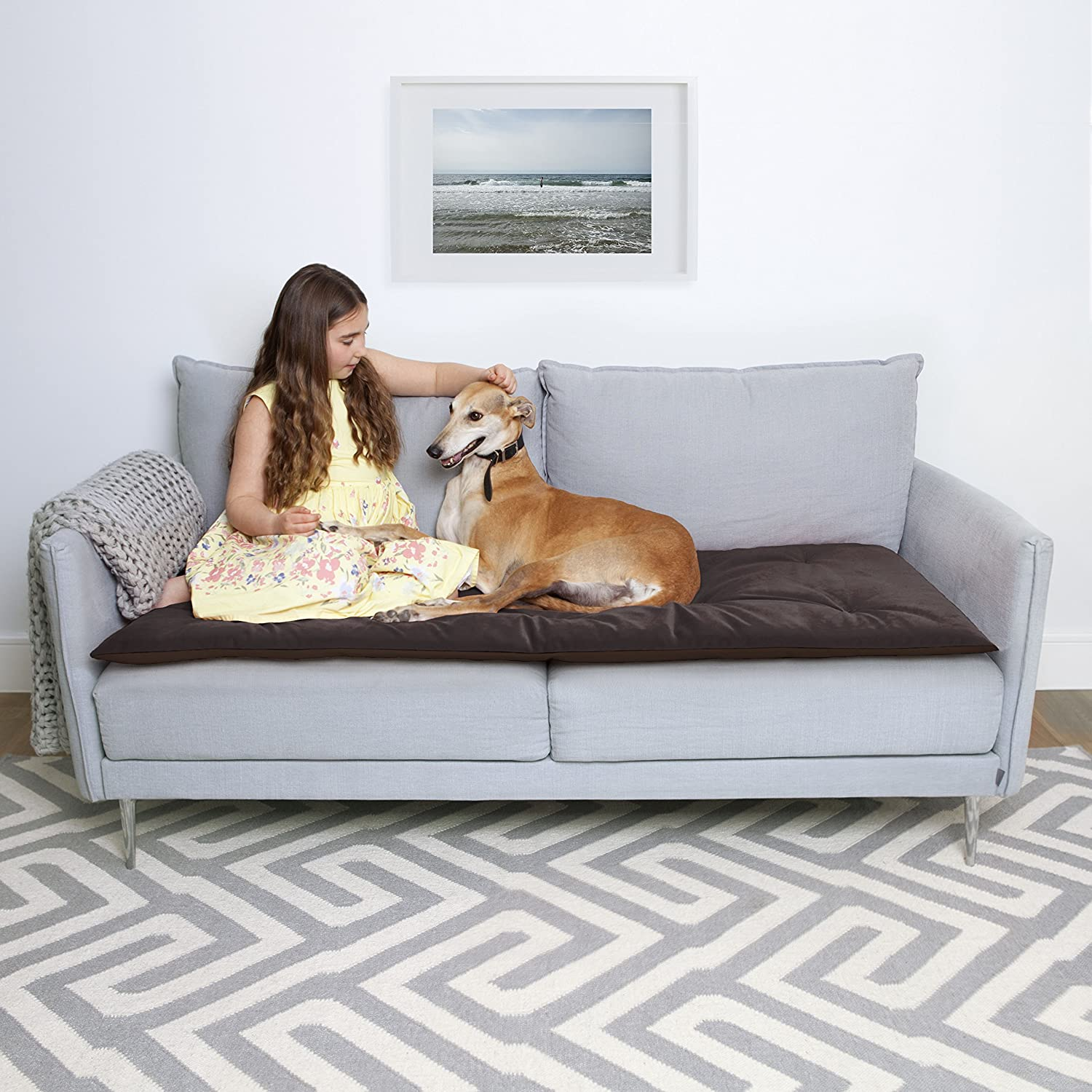 'Lounging 'Lounging 'Lounging Hound lusso Pet impermeabile velluto divano topper ae4abe