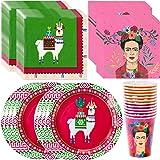 Talking Tables Frida Kahlo Fiestive Boho Bundle Suministros para fiestas festivas, fiestas y fiestas bohemias   Platos…