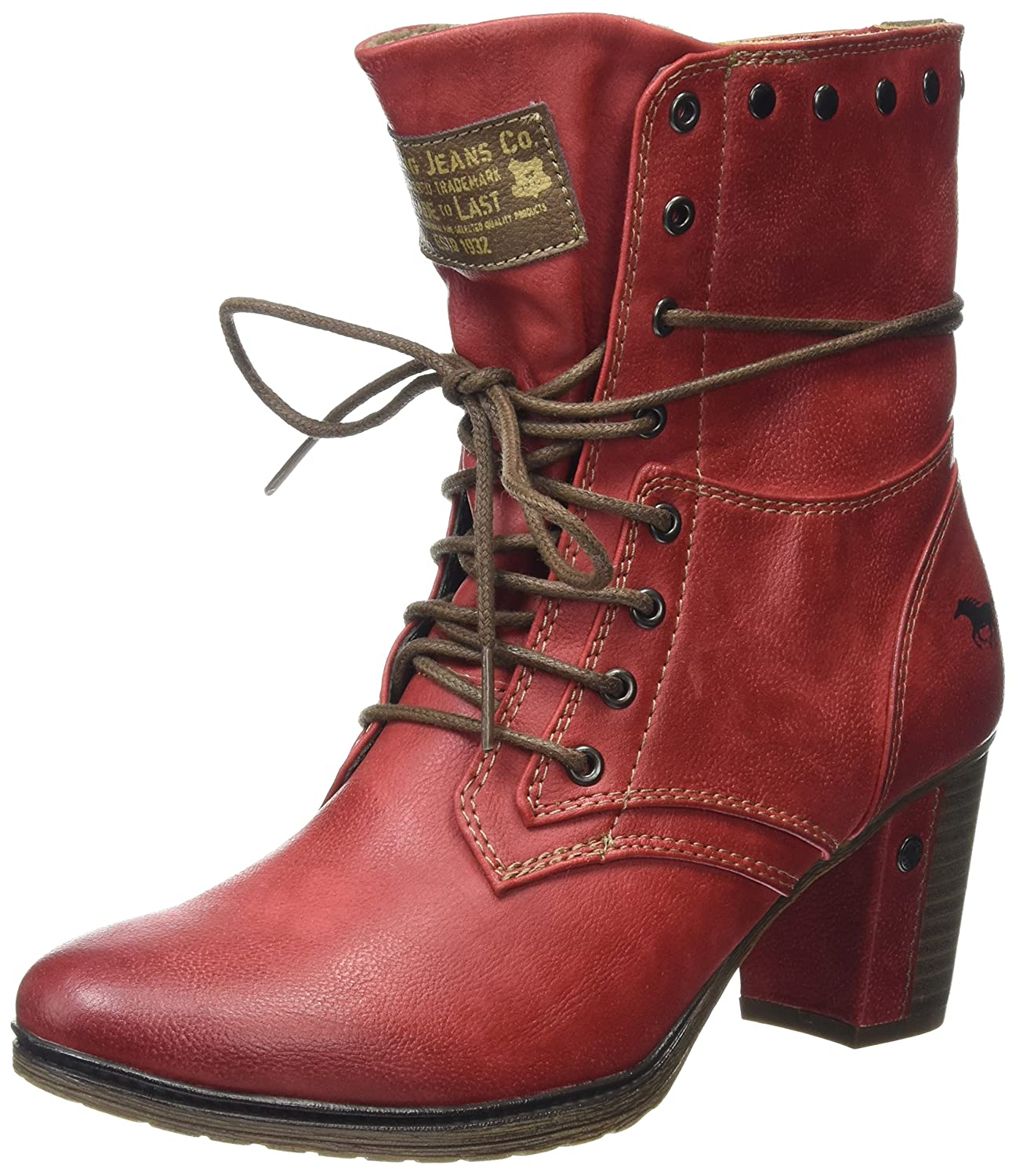 Mustang 1199-505, Bottes Femme Rouge Mustang Rouge Femme (Rot) f2558d0 - piero.space