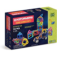Magformers 112-Pieces Deluxe Magnetic Building Blocks Challenger Set