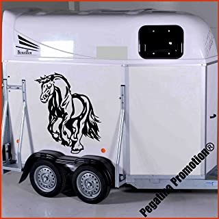 Kaltblüter Modell 1 Aufkleber Anhänger Pferd Anhänger ca.80x60cm