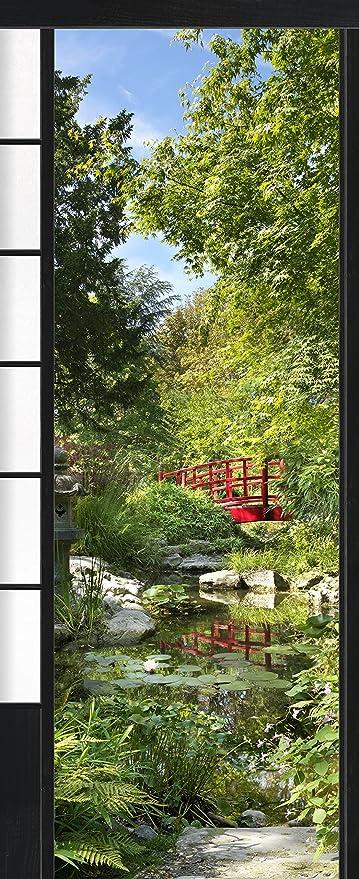Plage Osaka-Jardín Japonés Trampantojo de Puerta, Vinilo, Multicolor, 83x3x204 cm: Amazon.es: Hogar