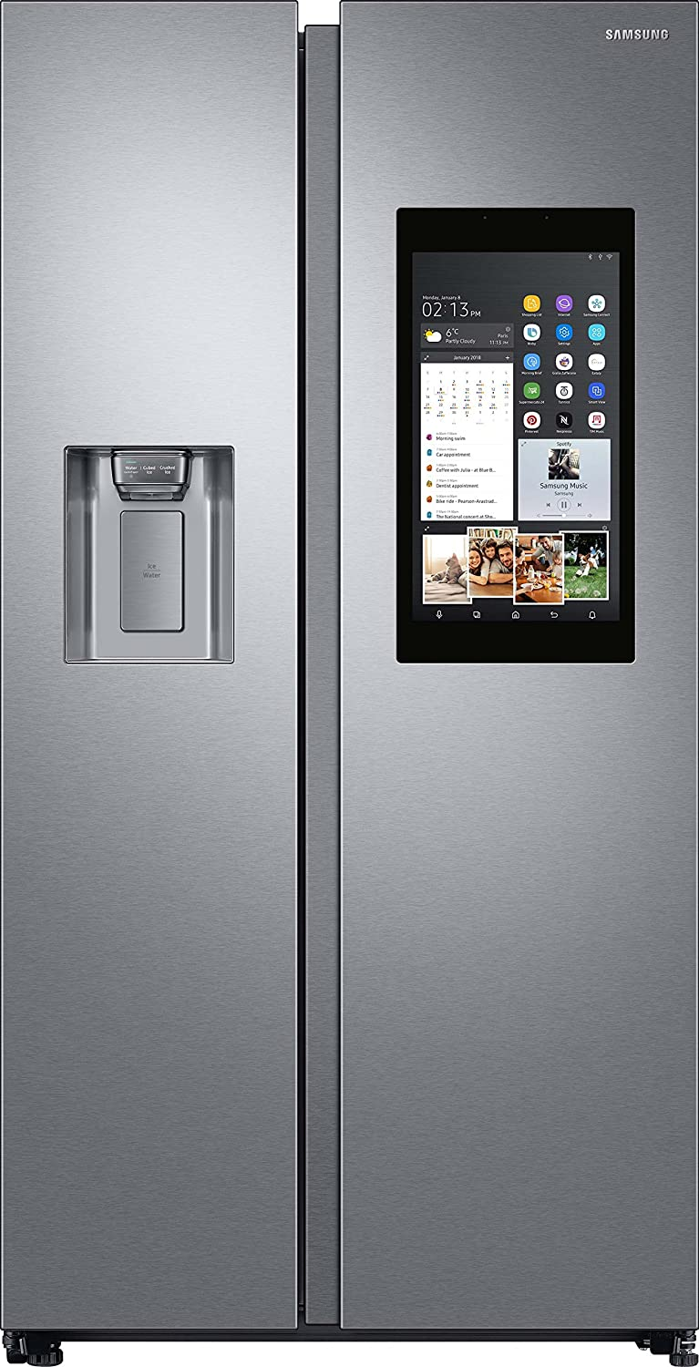 Samsung RS68N8941SL Freestanding 593L A++ Stainless steel side-by-side refrigerator - Side-By-Side Fridge-Freezers (Freestanding, Stainless steel, American door, LED, Glass, 593 L)