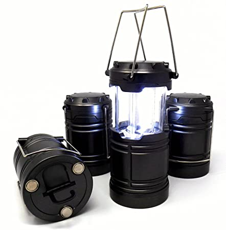 Illinois Industrial Tools Product Name IIT 41200 Tactical Pop-Up LED Lantern, 4 Pack, No Rust with Magnetic Base and Hook Emergency Lighting for Power Outages, Road Side Repairs and Survival Kits