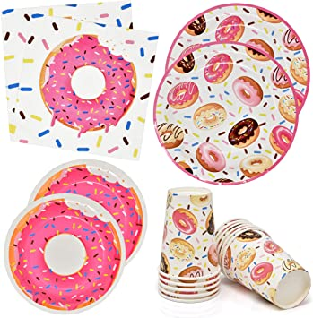 Donut Cups 9oz Pack of 10 Paper Cups Donut Baby Shower Donut Birthday Party Donut Baby Sprinkle Donut Party