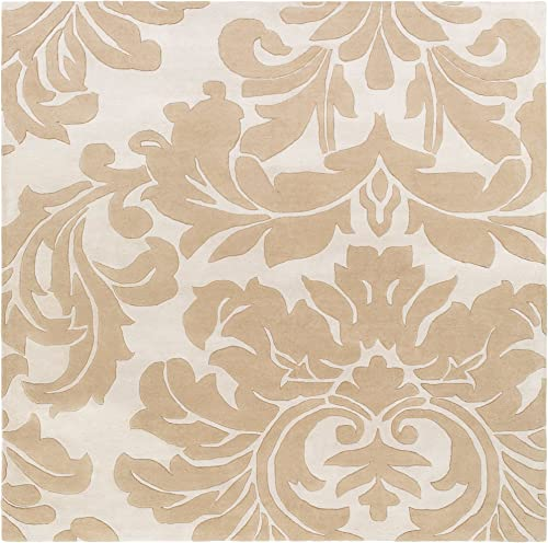 Surya ATH-5133 Hand Tufted Classic Area Rug, 9-Feet 9-Inch Square