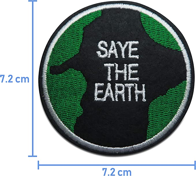 Finally Home Save The Earth - Parche termoadhesivo, diseño de Parches: Amazon.es: Juguetes y juegos