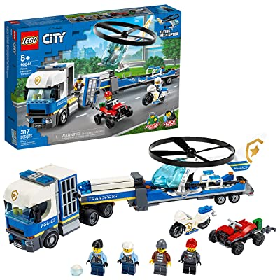 LEGO City Police Helicopter Transport 60244 Police Toy, Cool Building Set for Kids, New 2020 (317 Pieces): Toys & Games