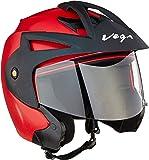 Vega Crux Open Face Helmet (Red, L)