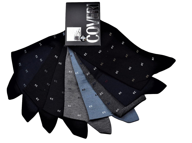Calzino uomo Lungo Classico ENRICO COVERI in Cotone - CONFEZIONE DA 6 PAIA - Vestibilità calzata 39/46 - Disponibili in 2 Assortimenti Colore