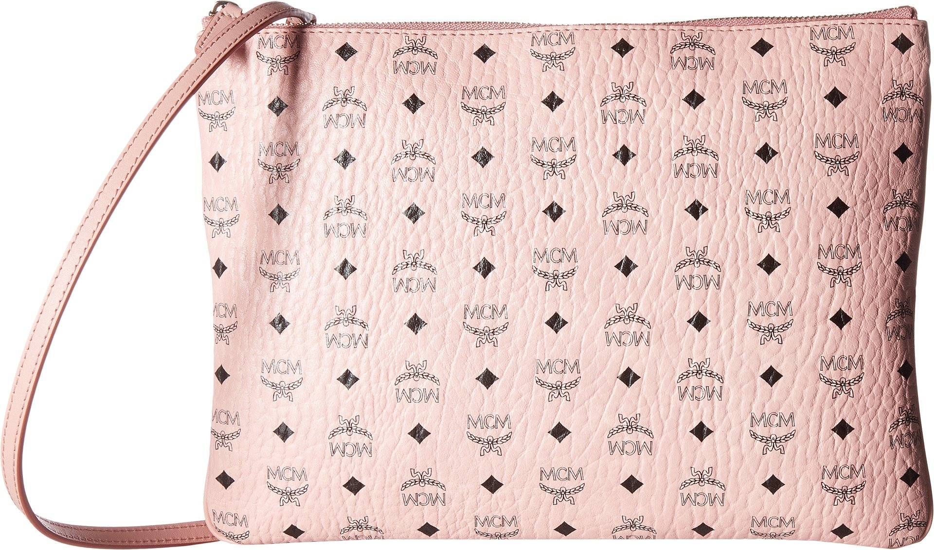 MCM Women's Visetos Medium Pouch, Soft Pink, One Size by MCM