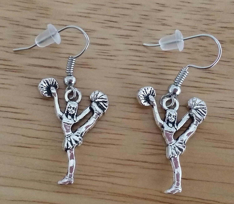 Girls Earrings Cheerleading Earrings Kits Kiss Cheer Earrings Cheer Jewelry Cheerleader Earrings