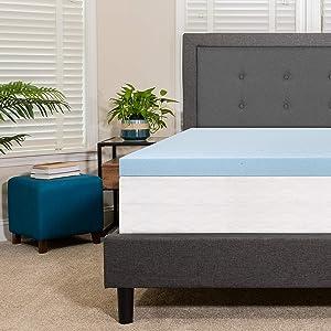 Flash Furniture Capri Comfortable Sleep 3 inch Cool Gel Memory Foam Mattress Topper - Twin