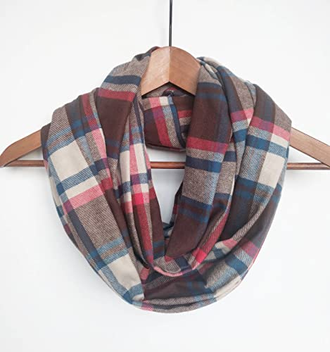 a28a95ccf Amazon.com: Plaid Infinity Scarf Cotton Gift: Handmade