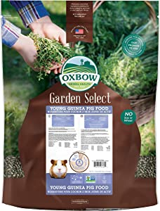 Oxbow Animal Health Garden Select Young Guinea Pig Food, Garden-Inspired Recipe for Young Guinea Pigs, No Soy or Wheat, Non-GMO, Made in The USA, 25 Pound Bag