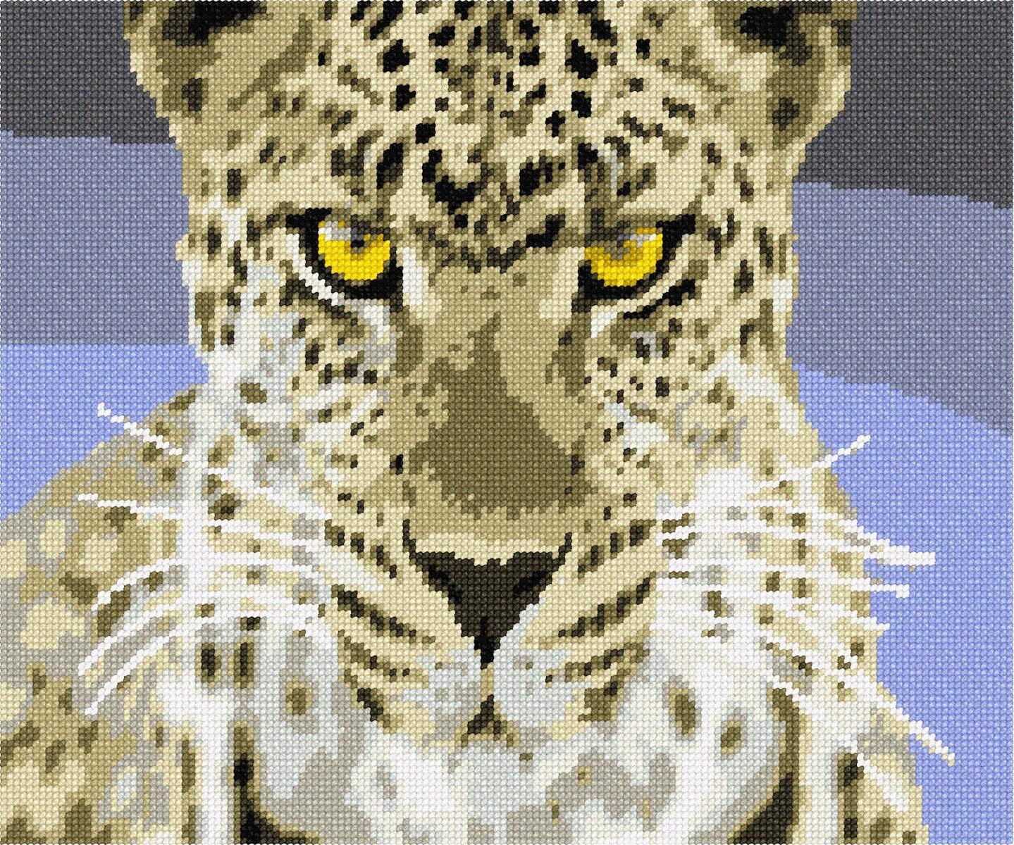 pepita Fierce Leopard Needlepoint Kit by pepita