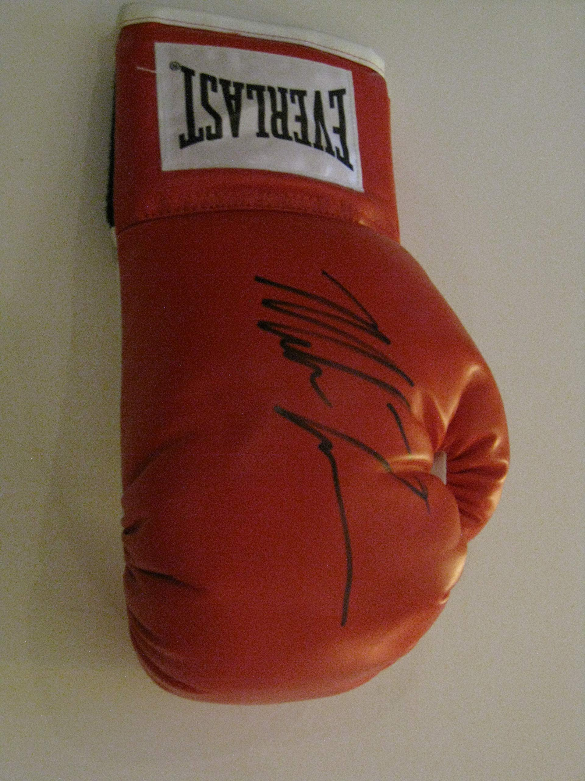 Mike Tyson autographed Signed Everlast regulation size boxing glove COA