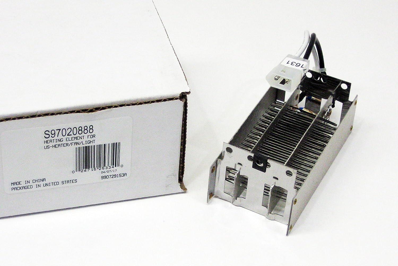 Heating Element S97020888 for NuTone Broan 100HL 100HFL 765HFL 765HL QTXN100HL QTXN110HL QTXN110HFLT QTXGN100HL QTX110HL QTX110HFLT QTX100HL