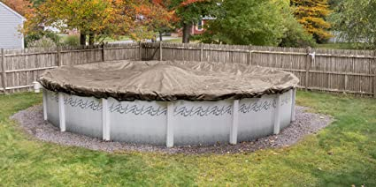 Robelle 6018-4 Superior Winter Pool Cover for Round Above Ground Swimming  Pools, 18-ft. Round Pool
