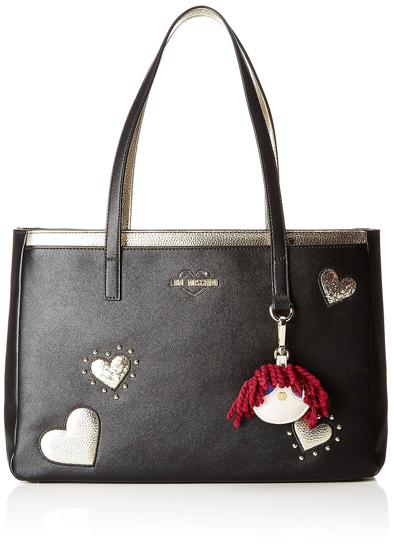 42a6b40080 Love Moschino Grain Pu Sac à bandoulière Femme, Noir (Nero) 15x10x15  centimeters (W x H x L): Amazon.fr: Chaussures et Sacs