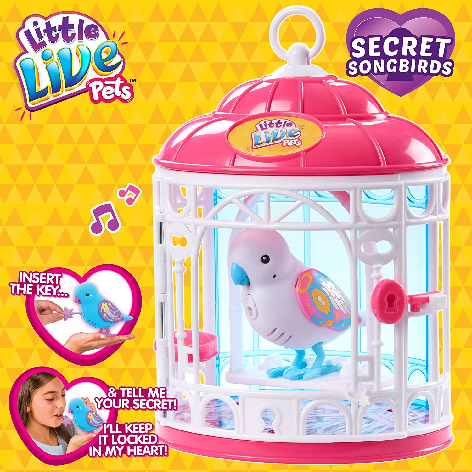 Secret Angie Little Live Pets Bird with Cage