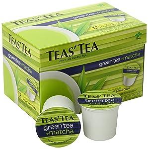 Teas' Tea Green Tea Plus Matcha Single Serve Cups
