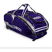 No Errors NO E2 Wheeled Catchers Gear Bag - Large Baseball and Softball Bag for Catcher's Equipment with Fatboy Wheels