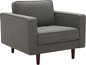 Amazon Brand – Rivet Aiden Mid-Century Modern Tufted Accent Chair (35.4