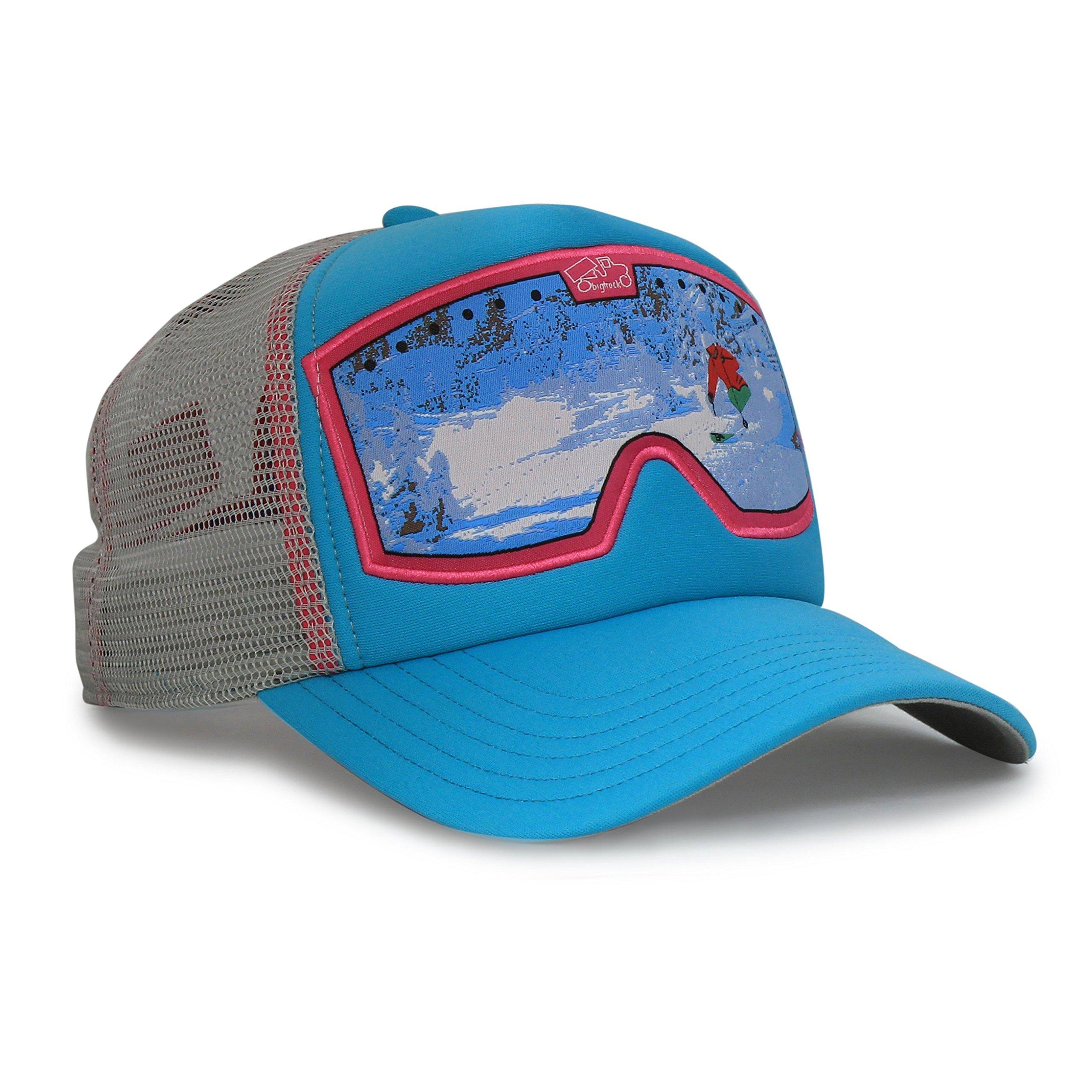 bigtruck Original Kids Mesh Snapback Kids Trucker Hat, Goggle Jade